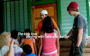 Jake and Jordan with the kids