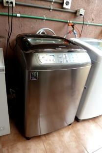 washing machine in place